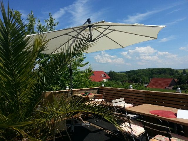 Terrasse im Hotel Pfiffelburg