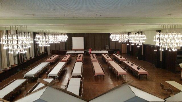 Der große Saal im Hotel Pfiffelburg