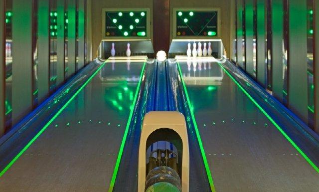 Bowlingbahn im Hotel Pfiffelburg